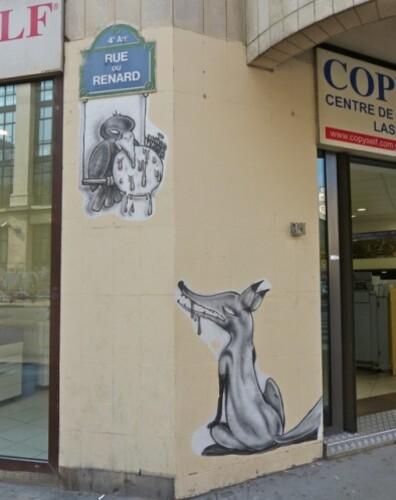 corbeau renard street-art 3