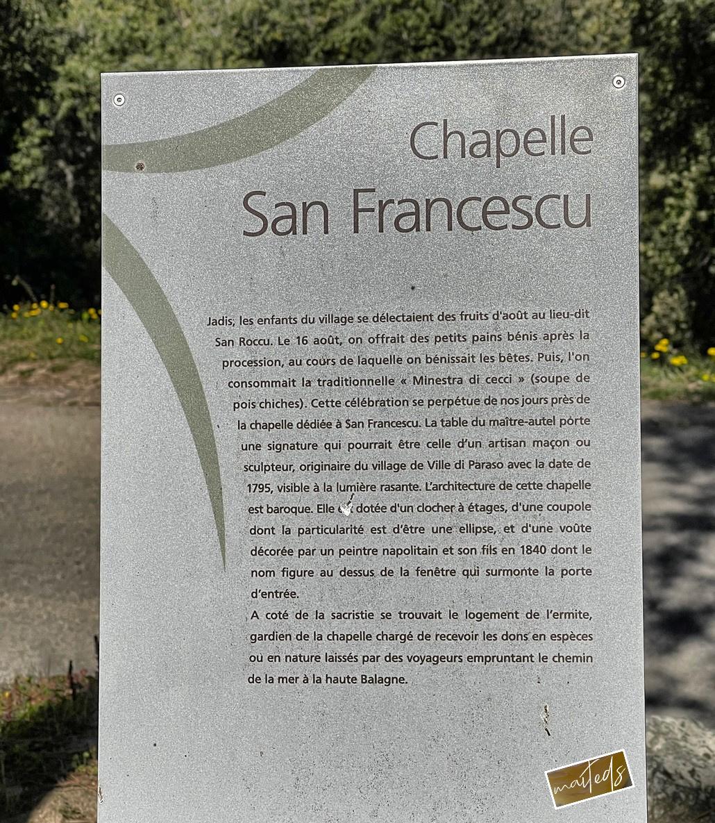 Chapelle San Francescu - Monticello