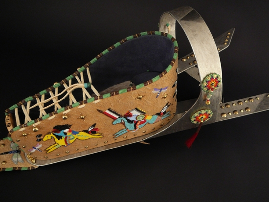 Cradleboard Work by Lakota (Sioux) artist Todd lonedog Bordeaux.