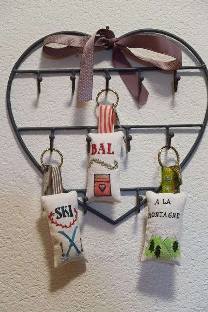 Porte-clés brodés