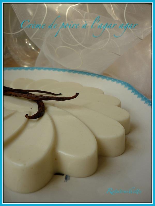 Crème de poire vanillée à l'agar agar