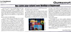 article dans Le Complétent, journal indépendant de SQY, Yvelines, mai-juin 2015