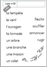 Listes de mots et dictées