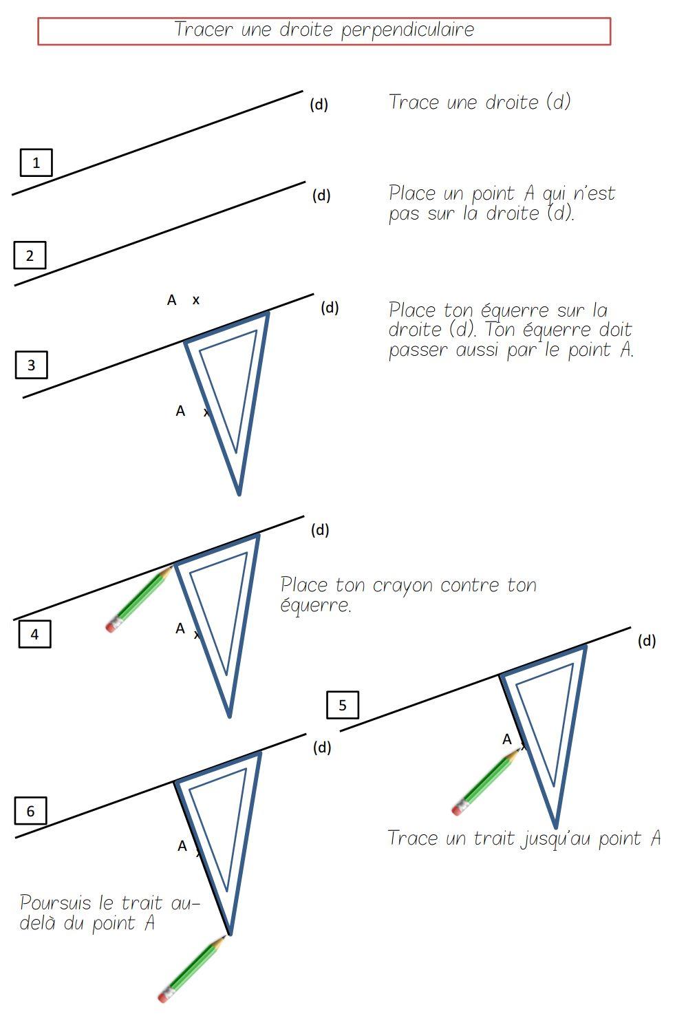 leçon droites parallèles et perpendiculaires