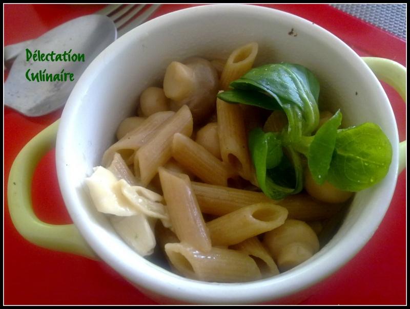 Risotto de pâtes complètes aux champignons et fromage de chèvre