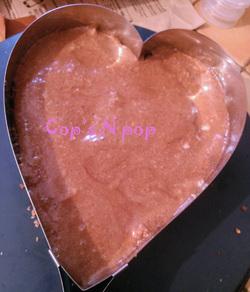 Gâteau coeur délice coco pralin Nutella!!