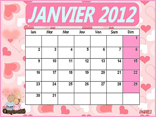 CALENDRIER JAN2012