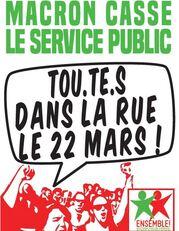 Dans la rue le 22 mars !