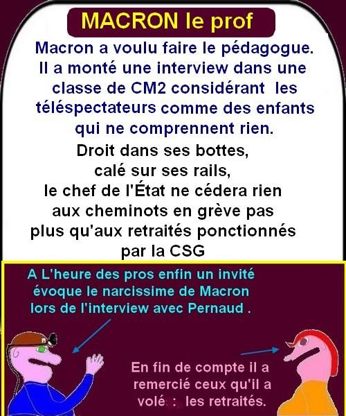 Macron et Cie, le poissonnier s'en mêle .....