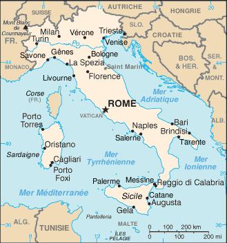 Italie-carte