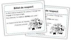 Billets de respect