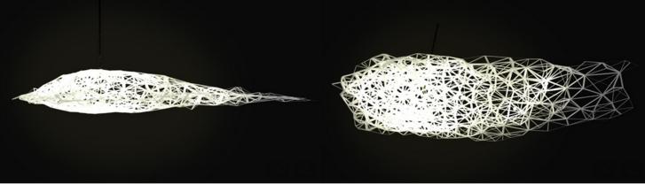 Une lampe design en Voronoï