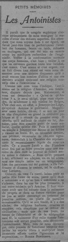 Les Antoinistes (Le Radical 1912-07-29 (A32))