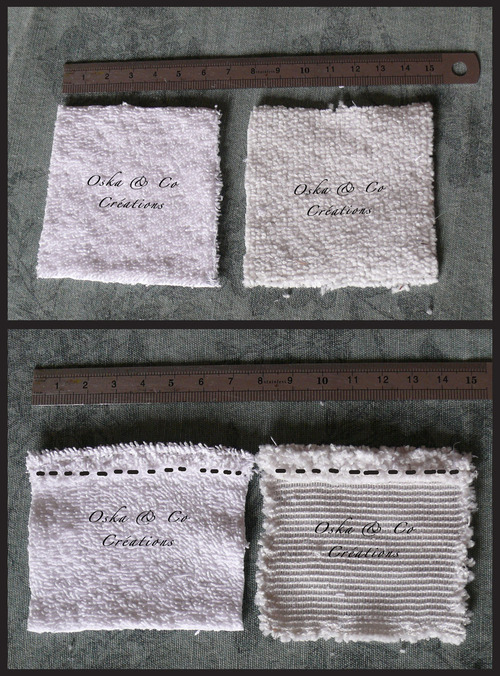 DIY facile carrés démaquillants ou mini-gants de doigts lavables