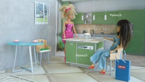 Studio-photos de Barbie : La cuisine finie