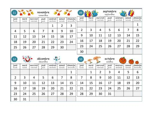 calendriers 2019/2020