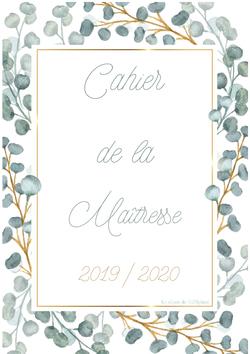 Cahier de la maîtresse 2019-2020