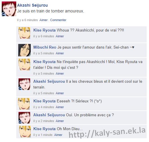 KnB Facebook, MP #6 Quiproquo... (AkaKuro )
