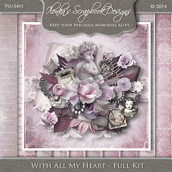 """With All My Heart"" by Ilonka Scrapbook Designs"