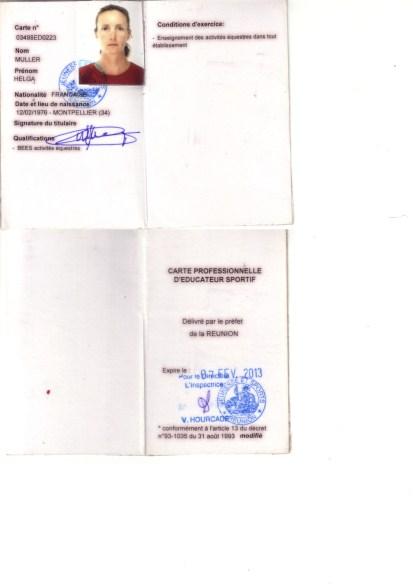 Brevet d'état activités équestres et carte pro