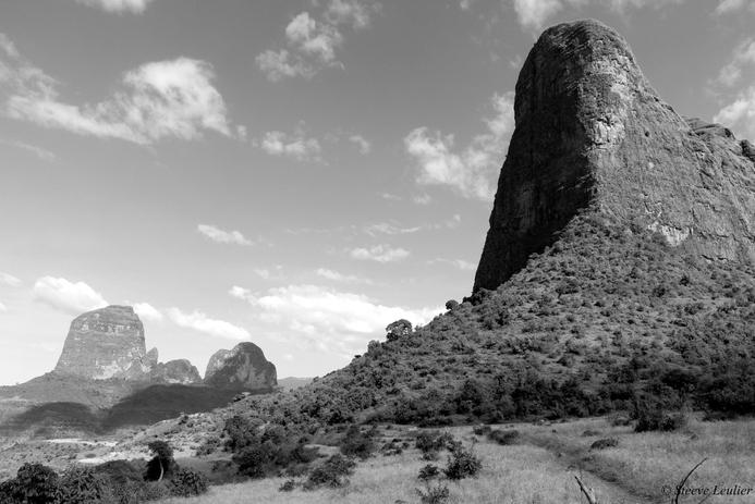 Le massif du Simien en N&B, Ethiopie