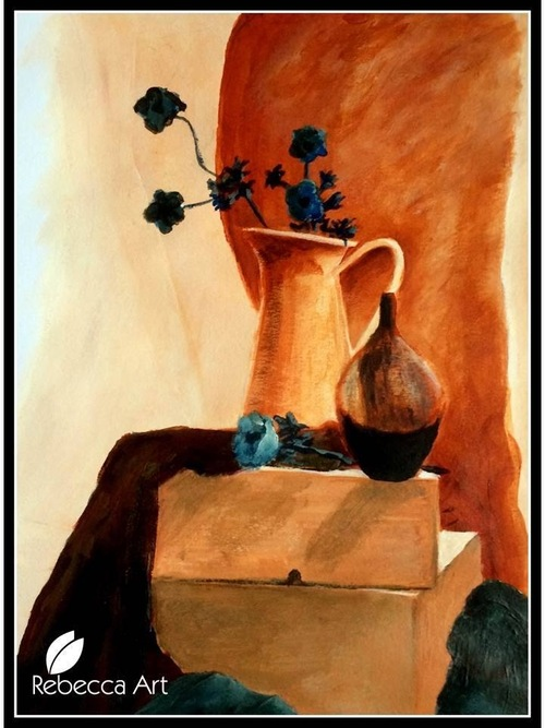 Composition Fleurs et Pichet / Flowers and Jug (acrylic)