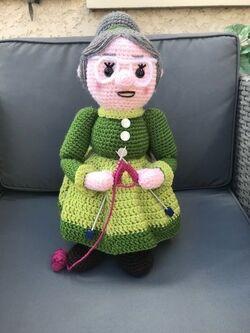 Dame tricot.
