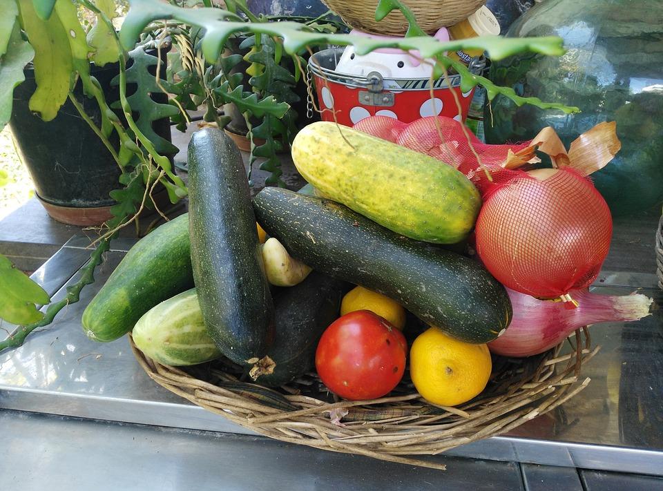 Concombre, Tomate, Courgette, En Bonne Santé, Légumes