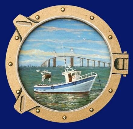 Vue du pont - Bateau bleu