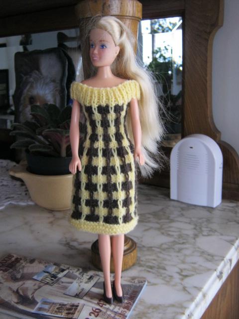 robe a damier jaune et maron