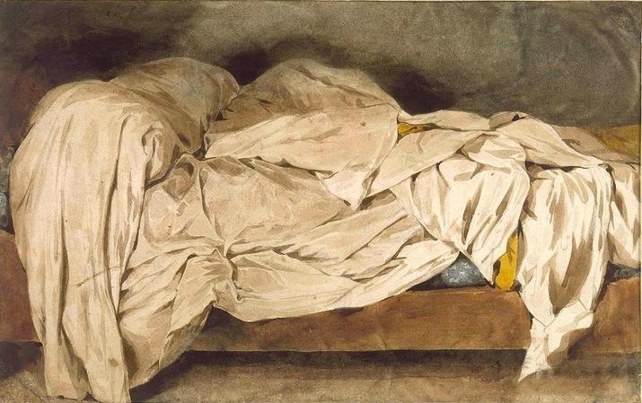 * L'ENCRIER * « Victor et Victor X » Eugène Delacroix - Un lit défait