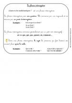 La phrase interrogative (leçon ce1)