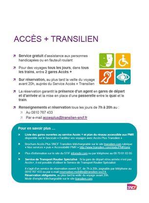 Vous et le Transilien  Information SNCF