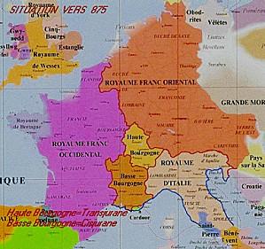 Europe vers 875