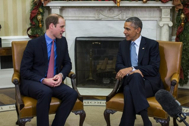 Obama reçoit le prince William dans le Bureau ovale
