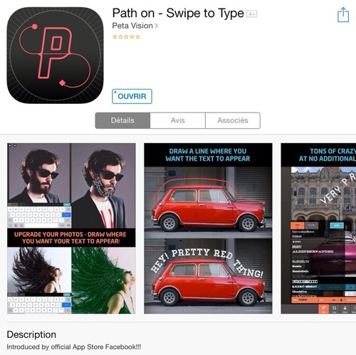 [appli] Path on - Swipe to type
