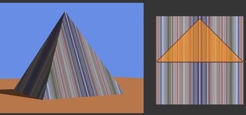 Texture en ligne droite