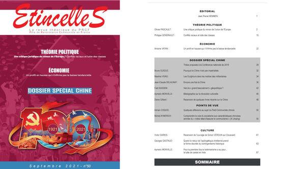 A paraître : Etincelles n°50 avec un dossier spécial Chine ! abonnez vous, achetez le !  (IC.fr-8/09/21)