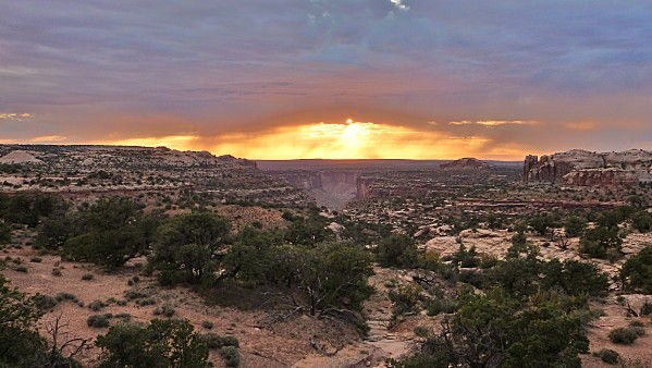 Jour 6 Canyonlands coucher de soleil