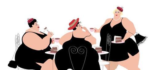 Les trois grasses...