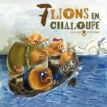 7 lions en chaloupe
