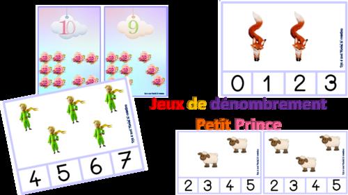 cartes dénombrement Petit Prince