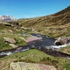 Traversée de plusieurs ruisseaux avant l'entrée dans le ravin de Culivillas