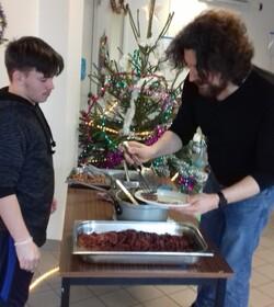 Notre repas de Noël de l'IME ...