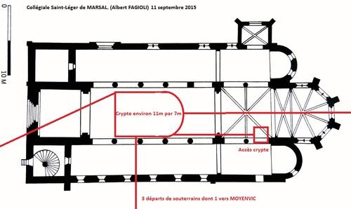 Le croquis transmis à Mr le Maire de Marsal 2 jours avant son passage dans le village. (Albert Fagioli)