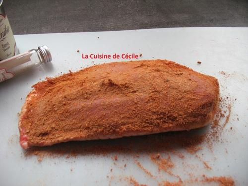 Magret de canard à la poire tapée et aux épices