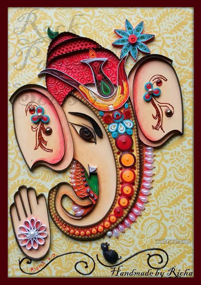 lord ganesh quilling art