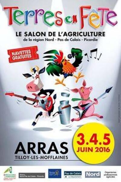 Terres en Fête c'est le plus grand salon de l'agriculture au nord de Paris et c'est ce week-end près d'Arras