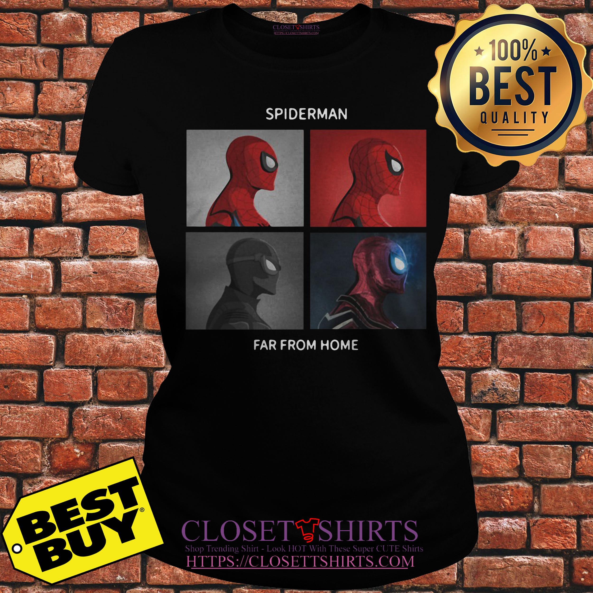 Marvel Spider Man Far From Home Spiderman Swings ladies tee