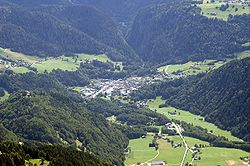 Vue du ciel de Villard-sur-Doron